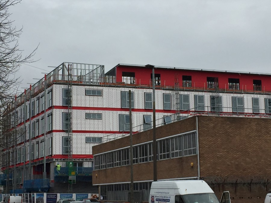 Contemporary new Salford apartments achieve airtightness thanks to Wraptite