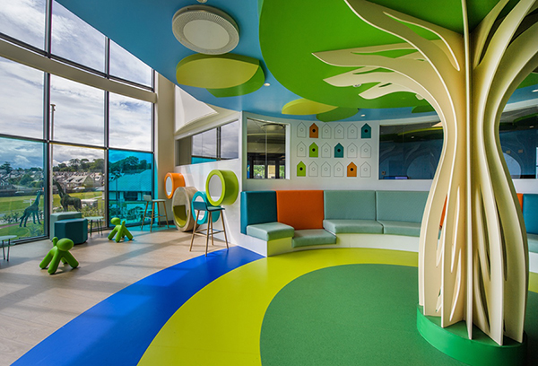 Colour psychology: Forbo helps to lift the mood at children's hospital
