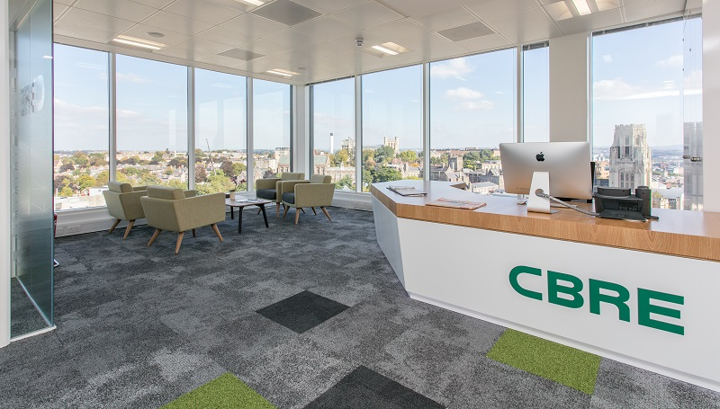 CBRE new office space refreshes working culture
