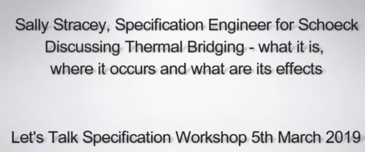 Schoeck Thermal Bridging Seminar @ Futurebuild 2019