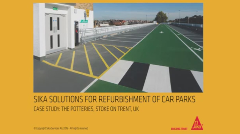 Repair and waterproof a concrete car park - Sika case study in the UK