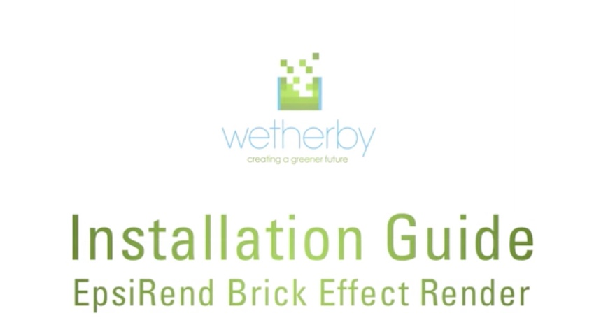 Installation Guide - Epsirend Brick Effect Render
