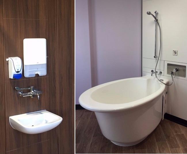 Washroom Washroom takes care of hospital refurbishment