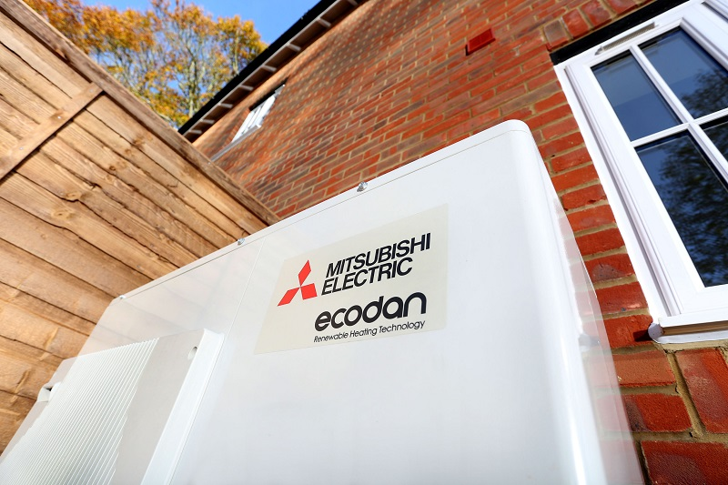 Latest renewable technology to heat ground-breaking homes